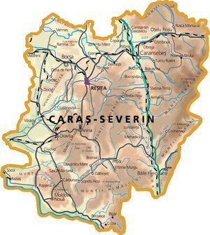 Harta judetului Caraș-Severin