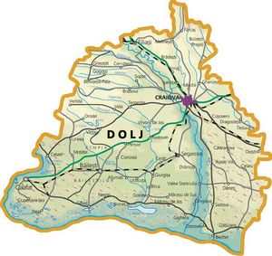 Harta judetului Dolj