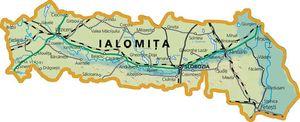Harta judetului Ialomița