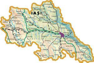 Harta judetului Iași