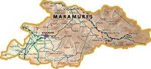 Harta judetului Maramureș