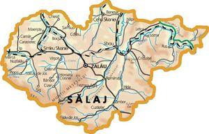 Harta judetului Sălaj