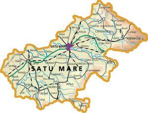 Harta judetului Satu Mare