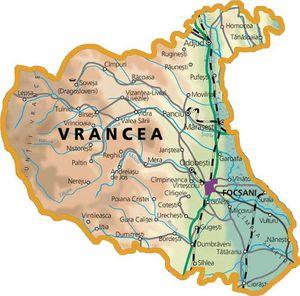 Harta judetului Vrancea