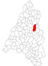 Pozitia orasului Aleșd in cadrul judetului Bihor
