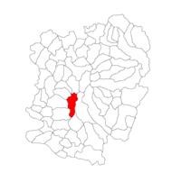 Pozitia orasului Anina in cadrul judetului Caraș-Severin
