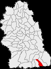 Pozitia orasului Aninoasa in cadrul judetului Hunedoara