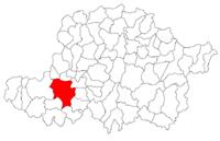 Pozitia orasului Arad in cadrul judetului Arad