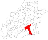 Pozitia orasului Avrig in cadrul judetului Sibiu