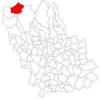 Pozitia orasului Azuga in cadrul judetului Prahova
