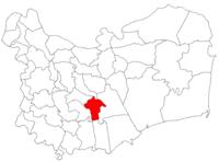 Pozitia orasului Babadag in cadrul judetului Tulcea