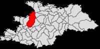 Pozitia orasului Baia Mare in cadrul judetului Maramureș