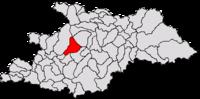 Pozitia orasului Baia Sprie in cadrul judetului Maramureș