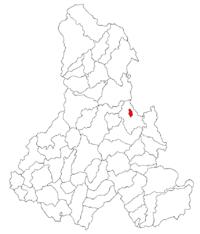 Pozitia orasului Bălan in cadrul judetului Harghita