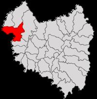 Pozitia orasului Baraolt in cadrul judetului Covasna