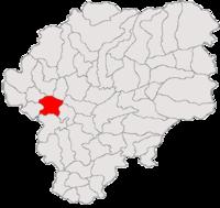 Pozitia orasului Beclean in cadrul judetului Bistrița-Năsăud