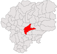 Pozitia orasului Bistrița in cadrul judetului Bistrița-Năsăud