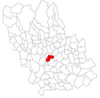 Pozitia orasului Boldești-Scăeni in cadrul judetului Prahova