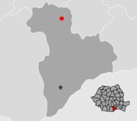 Pozitia orasului Bolintin-Vale in cadrul judetului Giurgiu