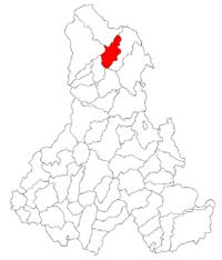 Pozitia orasului Borsec in cadrul judetului Harghita