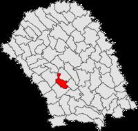 Pozitia orasului Botoșani in cadrul judetului Botoșani