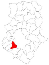 Pozitia orasului Bragadiru in cadrul judetului Ilfov