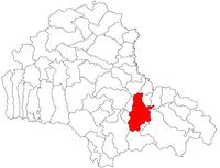 Pozitia orasului Brașov in cadrul judetului Brașov