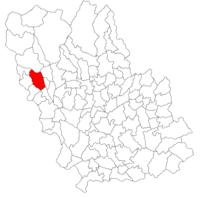Pozitia orasului Breaza in cadrul judetului Prahova