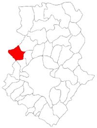 Pozitia orasului Buftea in cadrul judetului Ilfov