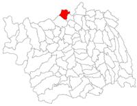 Pozitia orasului Buhuși in cadrul judetului Bacău