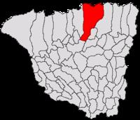 Pozitia orasului Bumbești-Jiu in cadrul judetului Gorj