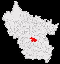 Pozitia orasului Buzău in cadrul judetului Buzău