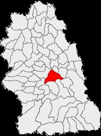 Pozitia orasului Călan in cadrul judetului Hunedoara