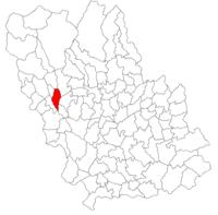 Pozitia orasului Câmpina in cadrul judetului Prahova