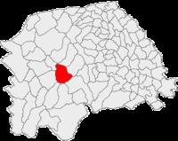 Pozitia orasului Câmpulung Moldovenesc in cadrul judetului Suceava