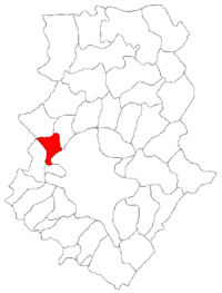 Pozitia orasului Chitila in cadrul judetului Ilfov
