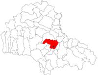 Pozitia orasului Codlea in cadrul judetului Brașov
