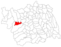 Pozitia orasului Comănești in cadrul judetului Bacău