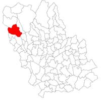 Pozitia orasului Comarnic in cadrul judetului Prahova