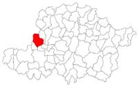 Pozitia orasului Curtici in cadrul judetului Arad