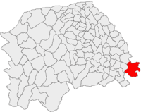 Pozitia orasului Dolhasca in cadrul judetului Suceava