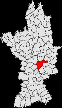 Pozitia orasului Drăgănești-Olt in cadrul judetului Olt