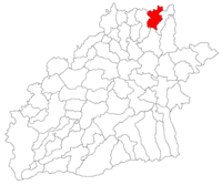 Pozitia orasului Dumbrăveni in cadrul judetului Sibiu