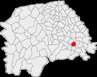 Pozitia orasului Fălticeni in cadrul judetului Suceava