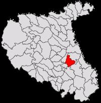 Pozitia orasului Focșani in cadrul judetului Vrancea
