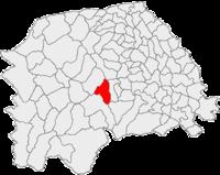 Pozitia orasului Frasin in cadrul judetului Suceava