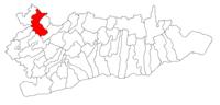 Pozitia orasului Fundulea in cadrul judetului Călărași