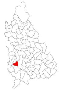 Pozitia orasului Găești in cadrul judetului Dâmbovița