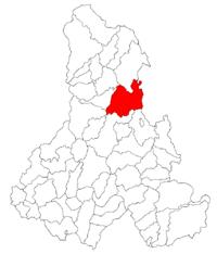 Pozitia orasului Gheorgheni in cadrul judetului Harghita