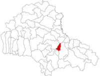 Pozitia orasului Ghimbav in cadrul judetului Brașov